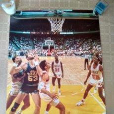 Coleccionismo deportivo: POSTER NBA VINTAGE AÑOS 80 PUBLICIDAD LA VUELTA AL COLE ELCORTEINGLES JAZZ HEAT. Lote 238250095
