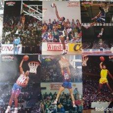 Coleccionismo deportivo: BASKET POSTERS PACK - ESPECIAL ALL-STAR ACB CONCURSOS DE MATES MÍTICOS (6 POSTERS). Lote 238269760