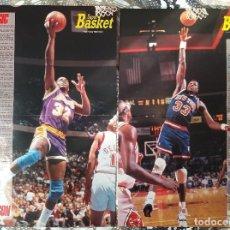 Coleccionismo deportivo: BASKET POSTERS PACK - SERIE POSTERS-BIOGRAFÍA JUGADORES NBA (14 UNIDADES). Lote 238289890