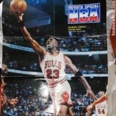 Coleccionismo deportivo: POSTER DE MICHAEL JORDAN...CHICAGO BULLS.... POSTER POR SUS SIETE AÑOS MÁXIMO ANOTADOR. Lote 239668725