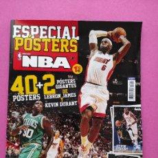 Coleccionismo deportivo: REVISTA ESPECIAL 42 POSTERS NBA - LEBRON JAMES - DURANT - GASOL - RICKY RUBIO - AÑO 2013. Lote 240438680