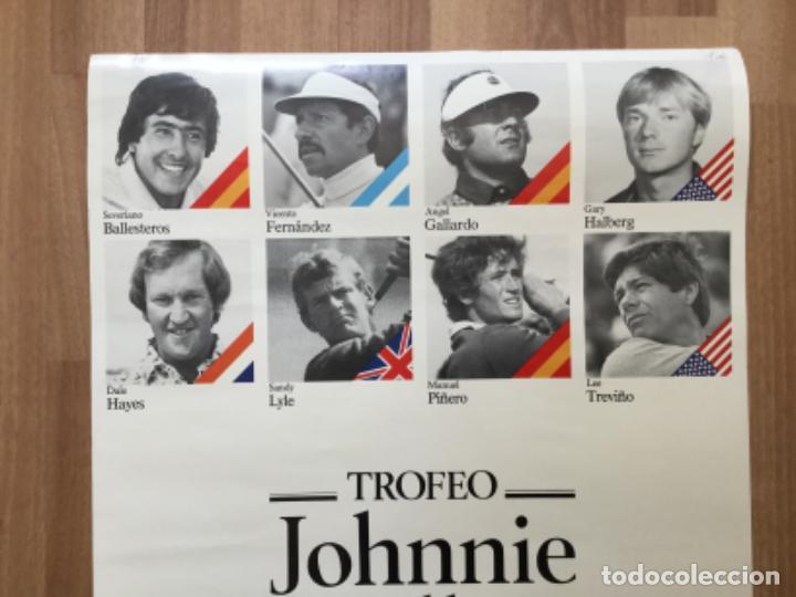 Coleccionismo deportivo: CARTEL TROFEO GOLF JOHNNIE WALKER CLUB EL PRAT SEVERIANO BALLESTEROS, ANGEL GLLARDO, GARY HALBERG - Foto 2 - 242106915