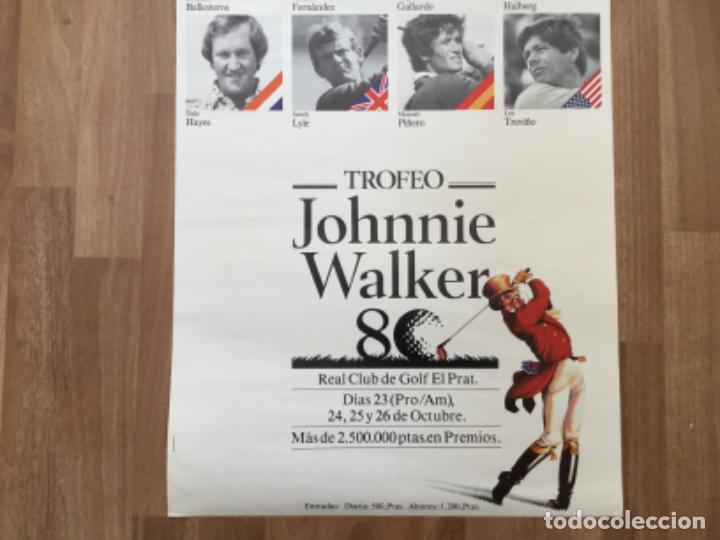 Coleccionismo deportivo: CARTEL TROFEO GOLF JOHNNIE WALKER CLUB EL PRAT SEVERIANO BALLESTEROS, ANGEL GLLARDO, GARY HALBERG - Foto 3 - 242106915