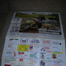 Coleccionismo deportivo: CARTEL 2ª RESISTENCIA TT ENDURO MONCHUELOS. 19 NOVIEMBRE 2006. VILLALPARDO (CUENCA).. Lote 243009455