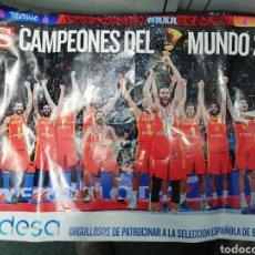 Coleccionismo deportivo: CARTEL SELECCIÓN ESPAÑOLA DE BALONCESTO GANADORA MUNDIAL 2019. Lote 243177205