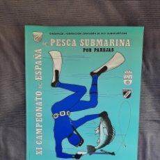 Coleccionismo deportivo: CARTEL CAMPEONATO DE ESPAÑA DE PESCA SUBMARINA 1990 SANTANDER. Lote 244791680