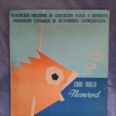 Coleccionismo deportivo: CARTEL CAMPEONATO DE ESPAÑA DE PESCA SUBMARINA 1967 LA CORUÑA. Lote 244791890