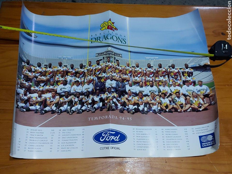 CARTEL POSTER BARCELONA DRAGONS 1994 1995 WORLD LEAGUE 62 X 44 CM (Coleccionismo Deportivo - Carteles otros Deportes)