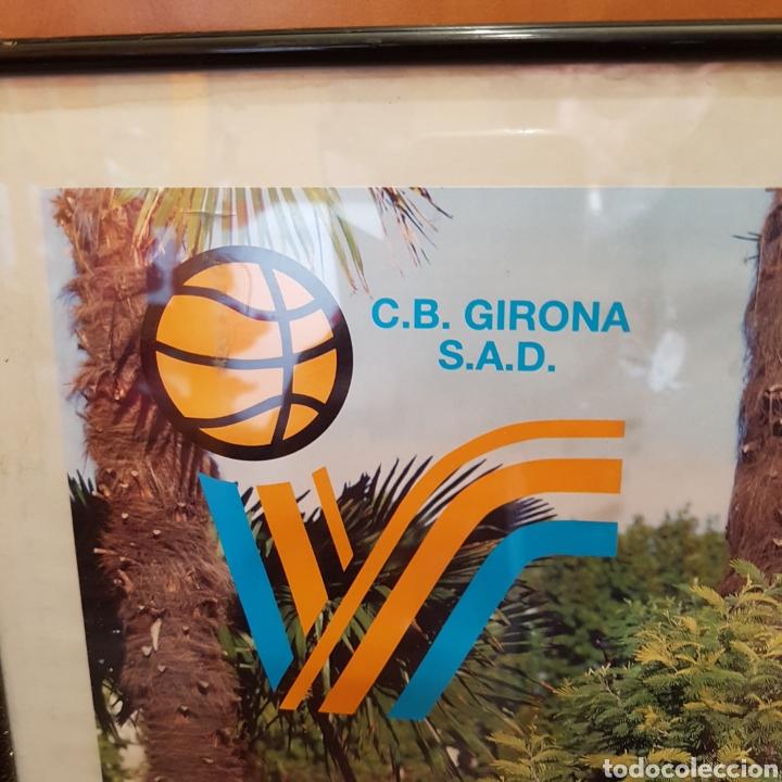 Coleccionismo deportivo: PÓSTER ENMARCADO C.B.GIRONA 99-00 FIRMADO - Foto 2 - 251985200