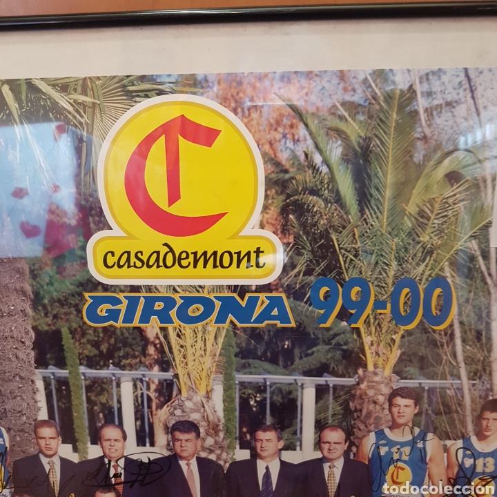 Coleccionismo deportivo: PÓSTER ENMARCADO C.B.GIRONA 99-00 FIRMADO - Foto 4 - 251985200
