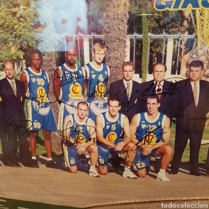 Coleccionismo deportivo: PÓSTER ENMARCADO C.B.GIRONA 99-00 FIRMADO - Foto 9 - 251985200