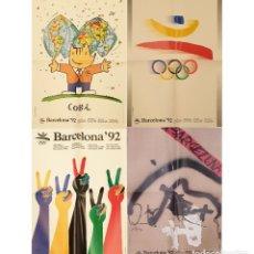 Coleccionismo deportivo: 4 LAMINA CARTEL ORIGINAL DE OLIMPIADAS BARCELONA 92 POSTER DISEÑADO POR MARISCAL SATUE TRIAS TAPIES. Lote 252524580