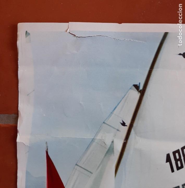 Coleccionismo deportivo: CARTEL POSTER XXVI CAMPEONATO MUNDIAL SNIPES VELA 1973 MALAGA ESPAÑA REAL CLUB MEDITERRANEO - Foto 2 - 252764860