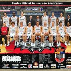 Coleccionismo deportivo: POSTER EQUIPO DE BALONCESTO CANTABRIA LOBOS - TEMPORADA 2005 / 2006 - PALACIO DEPORTES SANTANDER. Lote 253914155