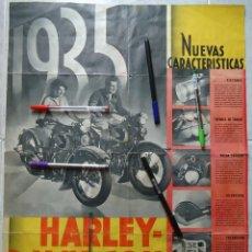Coleccionismo deportivo: CARTEL MOTO HARLEY DAVIDSON 1935 POSTER DEPORTE MOTOCICLISMO MOTOR MECANICA MILWAUKEE USA AMERICA. Lote 254140410