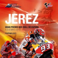 Coleccionismo deportivo: CARTEL GP JEREZ 2018. Lote 254186525