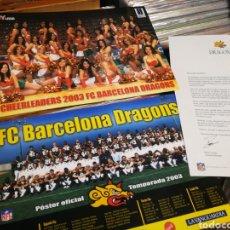 Coleccionismo deportivo: CARTA AL SOCIO BARCELONA DRAGONS (FÚTBOL AMERICANO)+ CARTEL PLANTILLA+CHEERLEADERS 2003. DIFÍCIL!!!. Lote 254429910