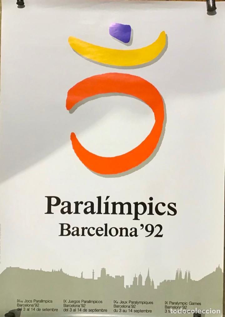 Coleccionismo deportivo: PARALÍMPICOS BARCELONA 92, POSTER - Foto 2 - 254685355