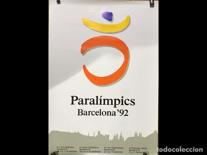PARALÍMPICOS BARCELONA 92, POSTER (Coleccionismo Deportivo - Carteles otros Deportes)