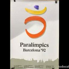 Coleccionismo deportivo: PARALÍMPICOS BARCELONA 92, POSTER. Lote 254685355