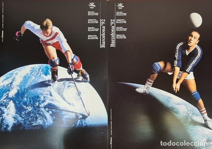 Coleccionismo deportivo: CARTELES OFICIALES DE LOS JUEGOS DE LA XXV OLIMPIADA BARCELONA 92. 1992. - Foto 3 - 254913520