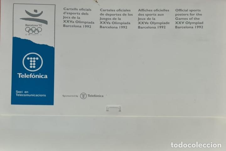 Coleccionismo deportivo: CARTELES OFICIALES DE LOS JUEGOS DE LA XXV OLIMPIADA BARCELONA 92. 1992. - Foto 12 - 254913520