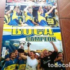 Coleccionismo deportivo: REVIPOSTER SOLO FUTBOL N61 BOCA CAMPEON APERTURA 2005. Lote 255282580