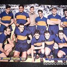 Coleccionismo deportivo: POSTER BOCA JUNIORS CAMPEON 1940. Lote 255286220