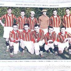 Coleccionismo deportivo: LAMINA PRIMERA DIVISION CLUB LIBERAL ARGENTINO 1926 GRAFICO. Lote 255286355