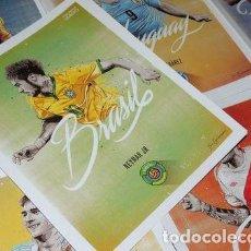 Coleccionismo deportivo: POSTERS FUTBOL NEYMAR PELE BRASIL ROMARIO RONALDO 20X25CM. Lote 255288960