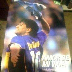 Coleccionismo deportivo: POSTER DOBLE DE DIEGO MARADONA OLE. Lote 255289305