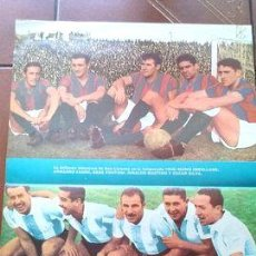 Coleccionismo deportivo: DELANTERAS SAN LORENZO Y RACING CLUB LAMINA HISTORIA PROF. Lote 255289525