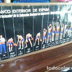 Coleccionismo deportivo: POSTER OLIMPIADAS LOS ANGELES 1984 BALONCESTO SELEC ESPANA. Lote 255289905