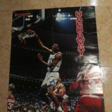 Coleccionismo deportivo: FIBA, BASKETBALL, NBA 1995,HARDAWAY,GRAN POSTER 58 CM X 82 CM. Lote 255656245