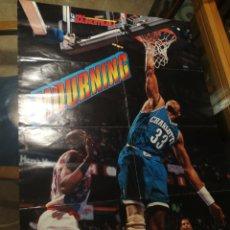 Coleccionismo deportivo: FIBA BASKETBALL, MOURNING, NBA AÑOS 90,GRAN POSTER 58 CM X 82 CM.. Lote 255657520