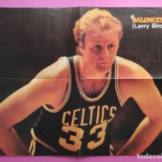 Coleccionismo deportivo: POSTER BASKET LARRY BIRD - REVISTA MI BALONCESTO - NBA BOSTON CELTICS. Lote 257569555