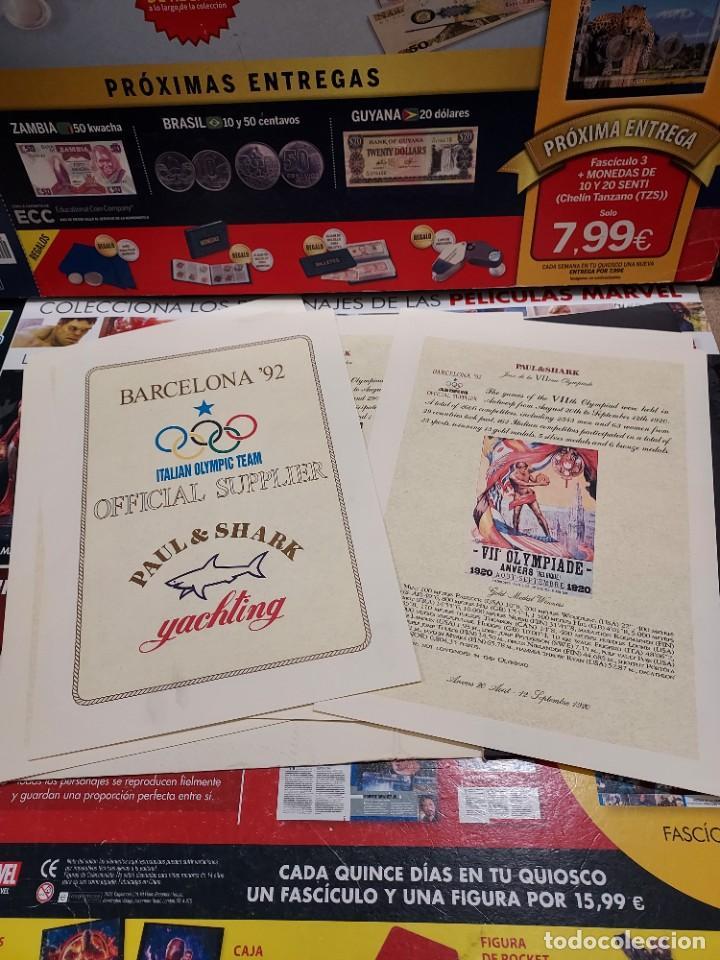 Coleccionismo deportivo: CARPETA CON 8 LAMINAS BARCELONA 92... - Foto 2 - 261821420