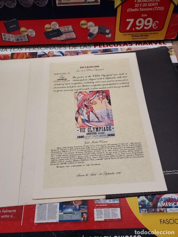 Coleccionismo deportivo: CARPETA CON 8 LAMINAS BARCELONA 92... - Foto 4 - 261821420