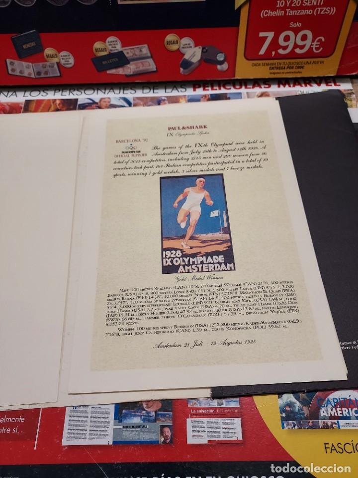Coleccionismo deportivo: CARPETA CON 8 LAMINAS BARCELONA 92... - Foto 6 - 261821420