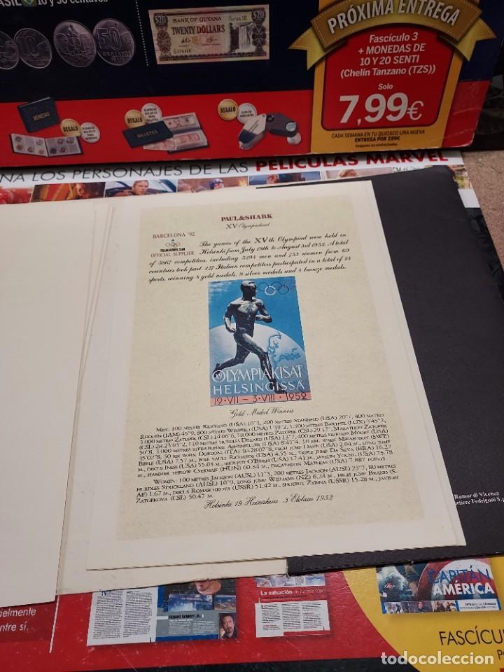 Coleccionismo deportivo: CARPETA CON 8 LAMINAS BARCELONA 92... - Foto 9 - 261821420