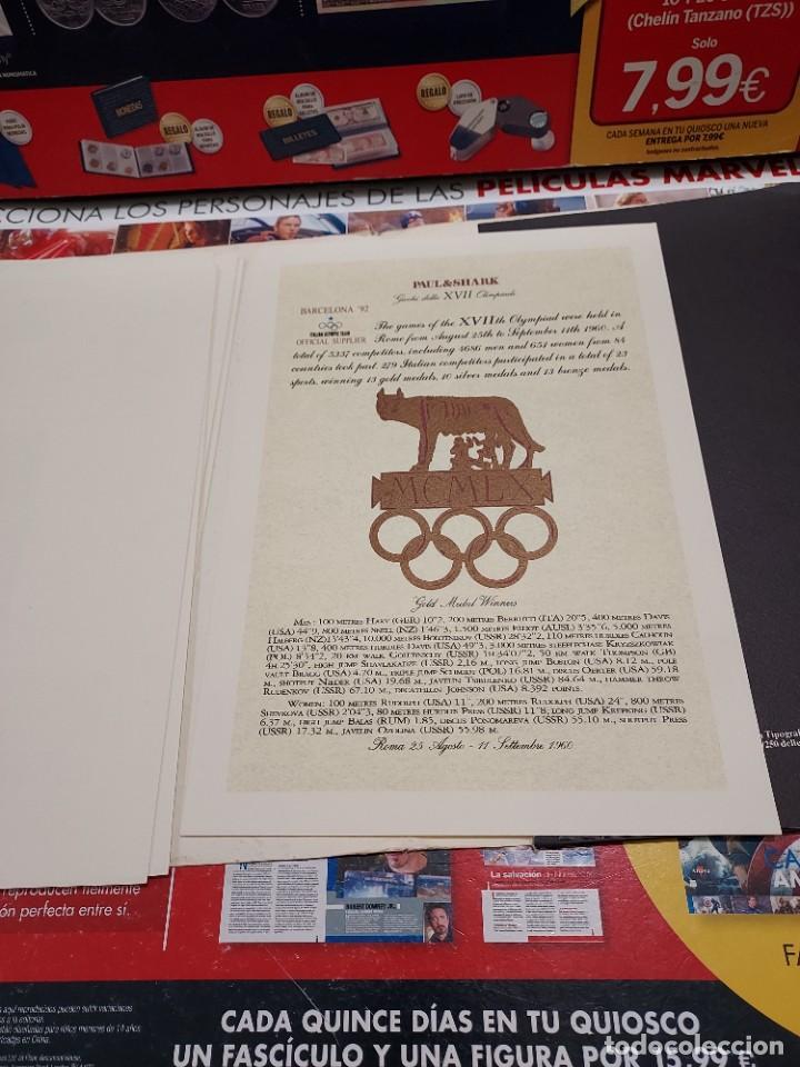 Coleccionismo deportivo: CARPETA CON 8 LAMINAS BARCELONA 92... - Foto 10 - 261821420