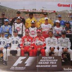 Coleccionismo deportivo: FORMULA 1 POSTER DOBLE GRAN PREMIO AUSTRALIA 2005 FERNANDO ALONSO FISICHELLA RARO !!. Lote 261918955