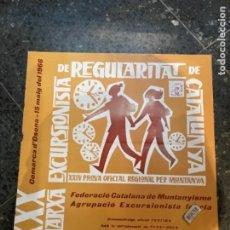 Coleccionismo deportivo: MONTAÑISMO -ANTIGUO CARTEL COMARCA D'OSONA 1966 XXX MARXA EXCURSIONISTA DE REGULARITAT DE CATALUNYA. Lote 262710835