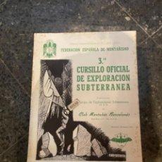 Coleccionismo deportivo: MONTAÑISMO - ANTIGUO CARTEL -FEDERACIÓN ESPAÑOLA DE MONTAÑISMO 3 CURSILLO OFICIAL DE EXPLORACIONES S. Lote 262757515