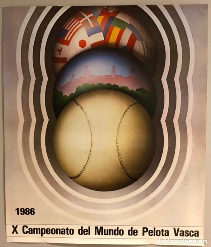 X CAMPEONATO DEL MUNDO DE PELOTA VASCA (VITORIA 1986). CARTEL PROMOCIONAL DEL MUNDIAL (Coleccionismo Deportivo - Carteles otros Deportes)