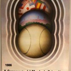 Coleccionismo deportivo: X CAMPEONATO DEL MUNDO DE PELOTA VASCA (VITORIA 1986). CARTEL PROMOCIONAL DEL MUNDIAL. Lote 263265920