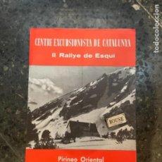 Coleccionismo deportivo: ESQUÍ - CARTEL / PROGRAMA - CEC II RALLYE DE ESQUÍ PIRINEO ORIENTAL 19-20 MARZO 1960 -4 PÁG.. Lote 264021780