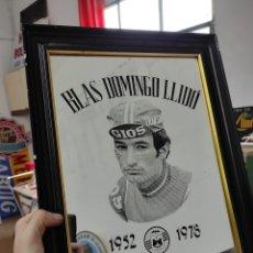 Coleccionismo deportivo: CICLISMO - BLAS DOMINGO LLIDO. 1952-1978. ESPEJO. 43X33CM. Lote 266110088