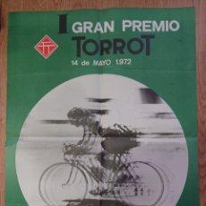 Coleccionismo deportivo: CARTEL CICLISTA VALLADOLID, 1972, BUEN ESTADO, TORROT, MUY RARO, BUEN TAMAÑO. Lote 266599688