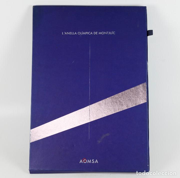 Coleccionismo deportivo: LANELLA OLÍMPICA DE MONTJUÏC - AOMSA. PORTFOLIO CON CARTELES 1990-91. 47X33CM. - Foto 2 - 267516979